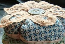 Pin Cushions / I love small things that keep all my pins and needles contained.  / by Becky Jorgensen