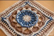 All Crochet--Squares (Granny's & Such) / Crochet board for Granny Squares and their variations / by Frann Bonomo