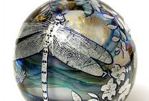 glass marbles & paperweight