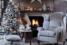 White Christmas ideas / Styling ideas on how to decorate your home with a white Christmas and winter wonderland look