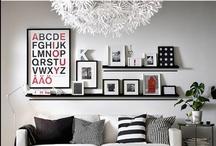 Photo wall / Creative ways to display photos and create a gallery wall using family photos and keepsakes.