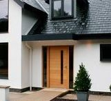 Cladding, render, aluminium windows and front doors / A selection of beautiful windows, cladding and render finishes for the home.