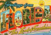 Having a Wonderful Time! Wish You Were Here! / Vintage state post cards, vintage post cards / by Marlene Borst