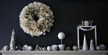 Monochrome Christmas ideas / DIY and craft decorating ideas for a monochrome Christmas