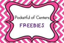 FREEBIES - Pocketful of Centers / Freebies from my TpT Store:  http://www.teacherspayteachers.com/Store/Pocketful-Of-Centers