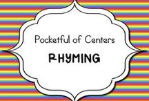 Rhyming in Kindergarten / Ideas for teaching rhyming in kindergarten