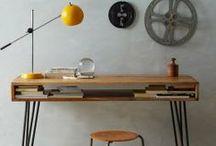 Bureau / Desk / Inspirations pour aménager un petit coin de travail charmant, un peu scandinave, un peu vintage, dans un appartement pas très grand. Inspirations to set up a little workspace with scandi vintage desk style in a little flat.