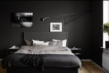 grey bedroom / calm bedrooms in grey // dormitorios serenos en gris