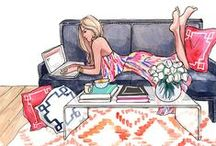 FASHION ILLUSTRATED / It's like coloring for grown-up girls.