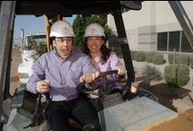 Bakery Beginnings / We broke ground for our Phoenix bakery in January, 2006, with a brownie and milk toast, and purple Fairytale shovels. Of course, the important people were invited - parents, other family, advisory board, bankers, vendors, customers and team members. The building was completed and we moved into it in October. / by Fairytale Brownies (Official)