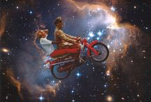 Surreal Space Collage / Surreal space collage inspiration, vintage art & stars / galaxies / universe