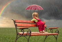 """Rain"" ☂ ""Bows""	 / Wishing ""ALL"" A Beautiful Rainbow!  / by Karie Lighthart"