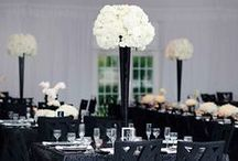 Black & White Wedding Theme / All about a black & white themed wedding #weddingstyle #weddingcolours #weddingdecor