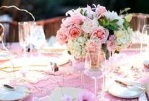 Pink Inspiration for your Wedding / PINK a romantic, calming colour. PINK wedding theme. pink accessories for your wedding, pink flowers for your wedding,pink linens