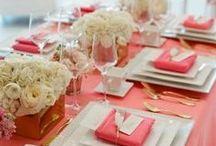 Coral Wedding Palette / #Coral Themed Wedding Whether in an Irish Castle or Coastal Haven #weddingdecor #weddingcolours #weddingplanning