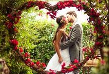 Inspiration for a Red Wedding / RED Bridal gowns, RED inspired decoration, transportation, centerpieces...wedding style