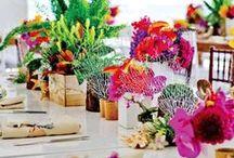 Floral Theme Wedding / Decoration, centerpieces, wedding gown, chandeliers... #weddingstyle #weddingdecor