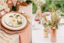 Copper/Rosegold Colour For Your Wedding / Everything for your wedding - from decor and dresses to flowers and accessories - in Copper and Rosegold