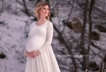 Wedding Maternity Outfits / Dresses for the maternity bride or bridesmaids, Maternity wedding guests outfits, photo ideas for save the date cards /  engagement shoots / ...