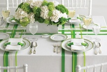 'Green' Weddings / A collection of images used for our Green Weddings Mood Board. Green & Navy, Green & Coral and Green & White and just Green!