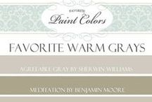 Paint Colors with Names / Painted rooms that include the name of color and brand.