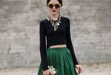 Get Glam / Decked out streetstyle ensembles
