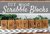 Wood Project Ideas / All sorts of projects made out of wood boards, blocks, pallets etc. 'cause I love DIY projects and  things made out of wood