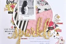Scrapbooking Inspiration / All things scrapbooking. Layout, tools, materials, inks, ideas!