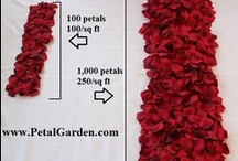Rose Petal DIY / A collection of designs our customers have created with our rose petals