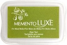 Crafts made Memento Luxe Pigment Ink / Tsukineko's Memento Luxe is a perfect ink for paper and fabric stamping.