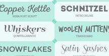 Fabulous Free Fonts / Board full of Free Fonts to use with your die cutting machine 'cause  we  all love pretty handwriting.