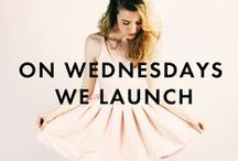 ON WEDNESDAYS WE LAUNCH / Every Wednesday we launch a new designer. Check back to see  collection of our designers launching NineteenthAmendment.com.