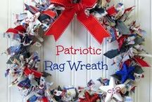 Celebrate America Ideas / Full of Patriotic, 4th of July Ideas which may be rustic or traditional that celebrate the Spirit of America's  red,white and blue with patriotic  foods, desserts, crafts and DIY projects.