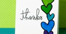 Thank You Card Inspiration / Learn to make a Thank You card with Imagine and Tsukineko papercrafting products.