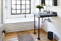 Pretty Spaces: Bathrooms / Beautiful and eclectic bathrooms and powder rooms / by Cassie Bustamante (Primitive & Proper)