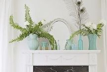Pretty Spaces: Mantles / Inspiring ideas for fireplace mantles / by Cassie Bustamante (Primitive & Proper)