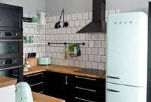 Pretty Spaces: Kitchens & Eating Nooks / Beautiful and eclectic kitchen and eating nooks