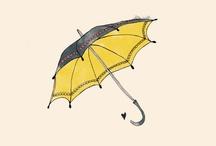 Umbrellas illustrations / by Sara Piersanti