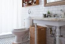 Home Inspiration: Bathrooms / Inspiration for when we can finally remodel that upstairs bathroom! / by Cassie Bustamante (Primitive & Proper)