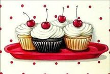 Cupcakes, macarons and briosches illustrations / by Sara Piersanti