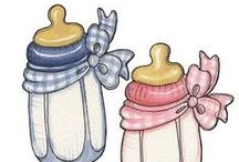 Biberons and pacifiers illustrations / by Sara Piersanti