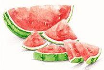 Watermelons illustrations / by Sara Piersanti