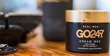 Go 247 / Go 247 specializes in men's hair care and styling products; cream wax, shampoo, conditioner, control spray, hair gel, hard wax, thickening shampoo, pomade, hair styling cream, texture paste and more.