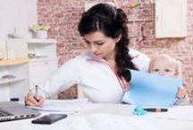 Tips for Work at Home Moms / Everything you'll need to know for being a work at home mom. #WAHM