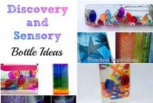 Discovery Bottles / Calm down jars, mind jars, sensory bottles, and mesmerizing beauties. How to make a calm down jar and the basics about using sensory bottles as tools. Discovery bottles and sensory bottles are great for all ages. Here are my favorites!