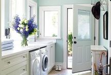 Laundry Room Decor / A collection of beautiful and functional laundry rooms and laundry room ideas!