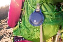 Music is the Motivation: JBL Clip / Ultra portable rechargeable Bluetooth speaker with carabiner and speakerphone, letting your music come with you wherever you go.