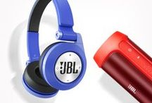 A Splash of Color / A speaker and headphone for every experience. The JBL Charge 2 and Flip 2 portable speakers and the JBL Synchros E40BT wireless headphones. / by JBL