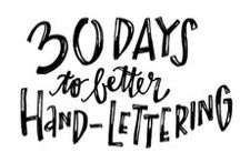 Font and Creative Lettering / Gathering of fonts to experiment with / by Christa Sterken