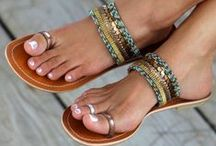 FLIP-FLOPS & SANDELS / if I could, my whole life would be spent in flip-flops ! / by Cindy Ann